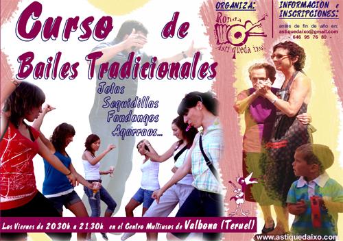 Curso de Bailes Tradicionales, en Valbona (Teruel), todos los viernes a las 20,30 h.