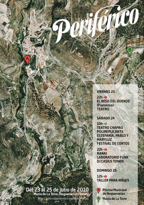 Cartel del Festival Periférico en Nogueruelas - Teruel.