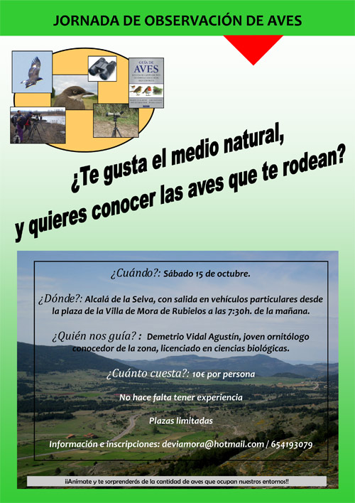 Cartel Jornada Observación Aves_15_10_2011