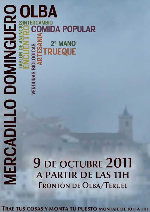 Cartel Mercadillo Dominguero 9_10_2011