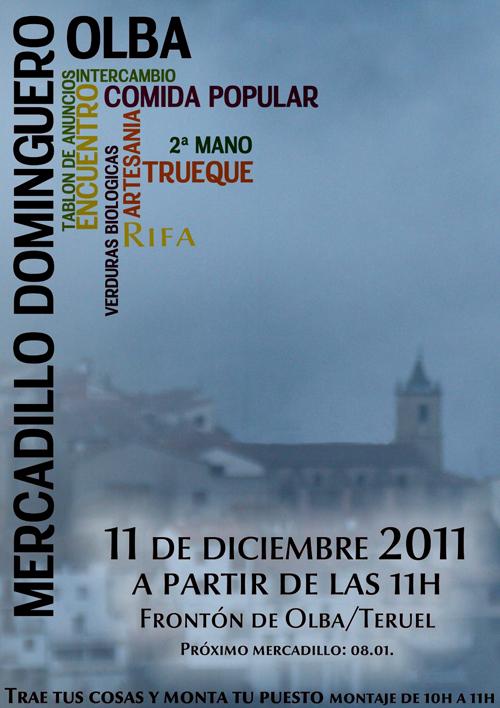 Mercadillo Dominguero en Olba, el 12 de Enero de 2011