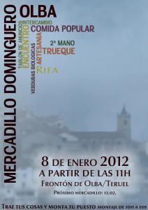 Mercadillo Dominguero el 8 1 2012 en Olba - Teruel