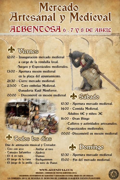 Mercado Medieval en Albentosa - Teruel en Semana Santa
