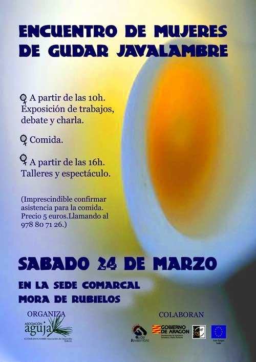Cartel del encuentro de Mujeres en Mora de Rubielos - Teruel