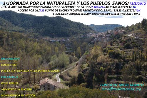 Cartel III Jornada por la Naturaleza y los Pueblos Sanos - 13 de Mayo de 2012