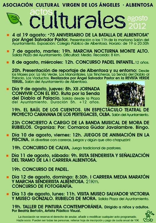 Actos culturales en Albentosa 2012