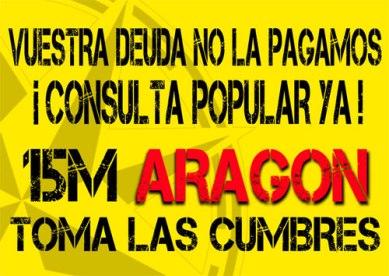 15 M Aragón - Campaña Toma las Cumbres