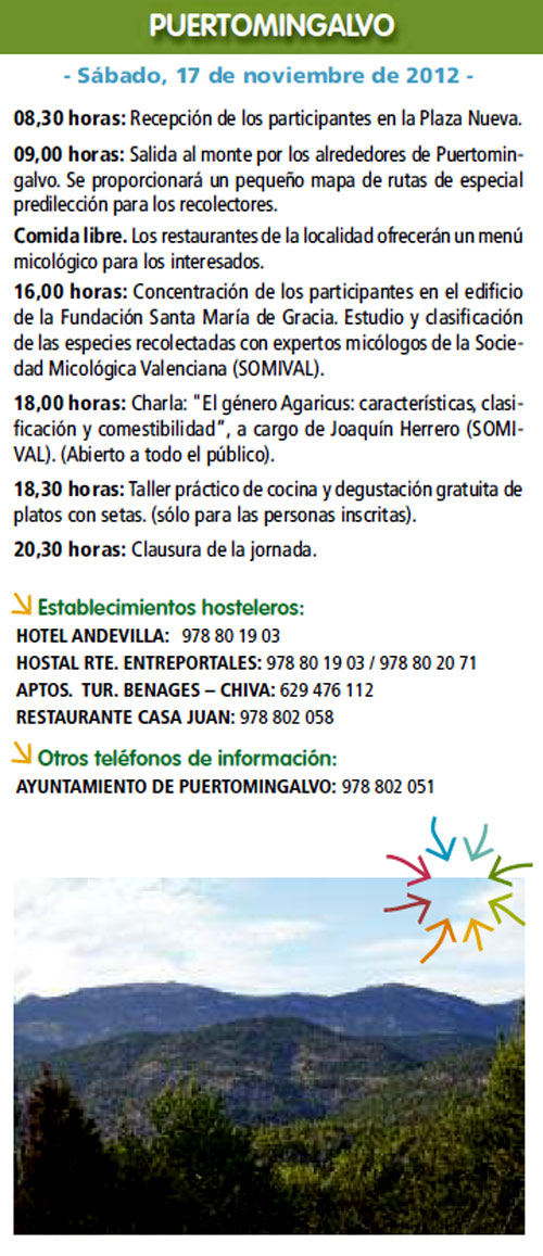 Ruta de Puertomingalvo (Teruel) el Sábado 17 de Noviembre