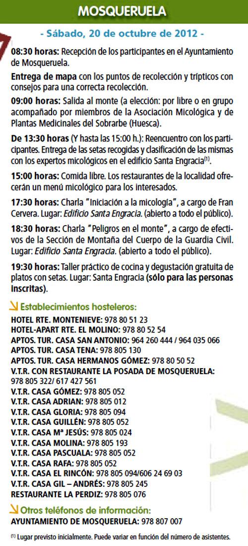 Ruta de Mosqueruela (Teruel) el Sábado 20 de Octubre