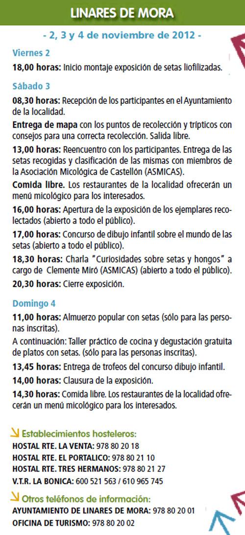 Ruta de Linares de Mora (Teruel) 2,3,4 de Noviembre de 2012