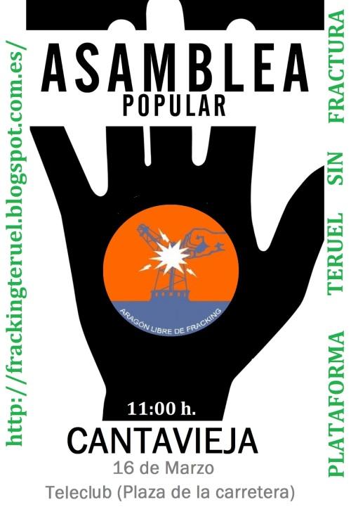 Asamblea Plataforma Teruel sin Fracturas en Cantavieja