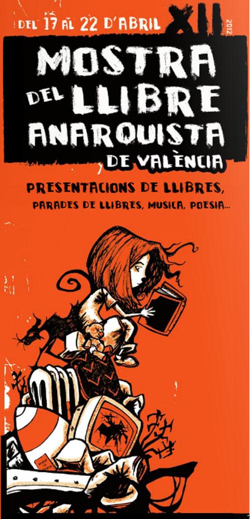 Cartel de la Mostra del llibre anarquista de Valencia