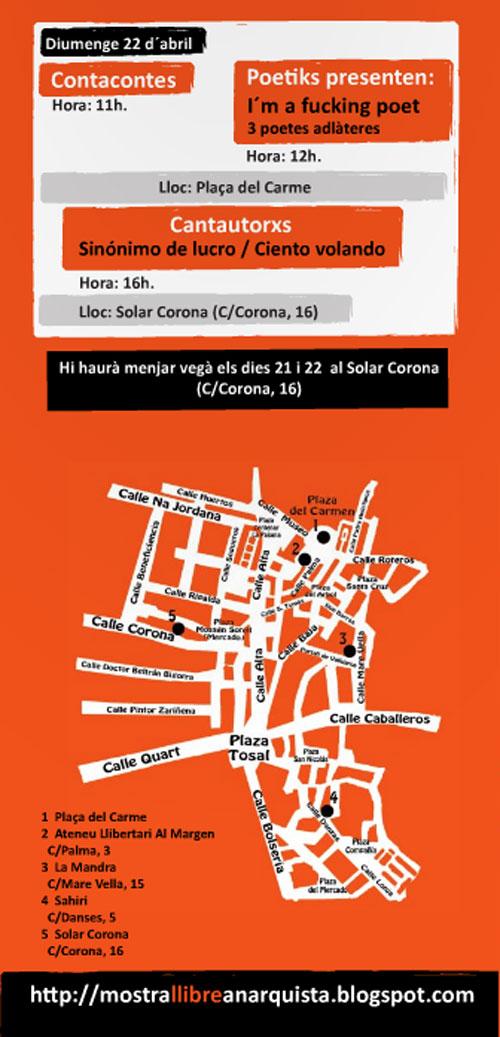 Cartel de la Mostra del llibre anarquista de Valencia - 2