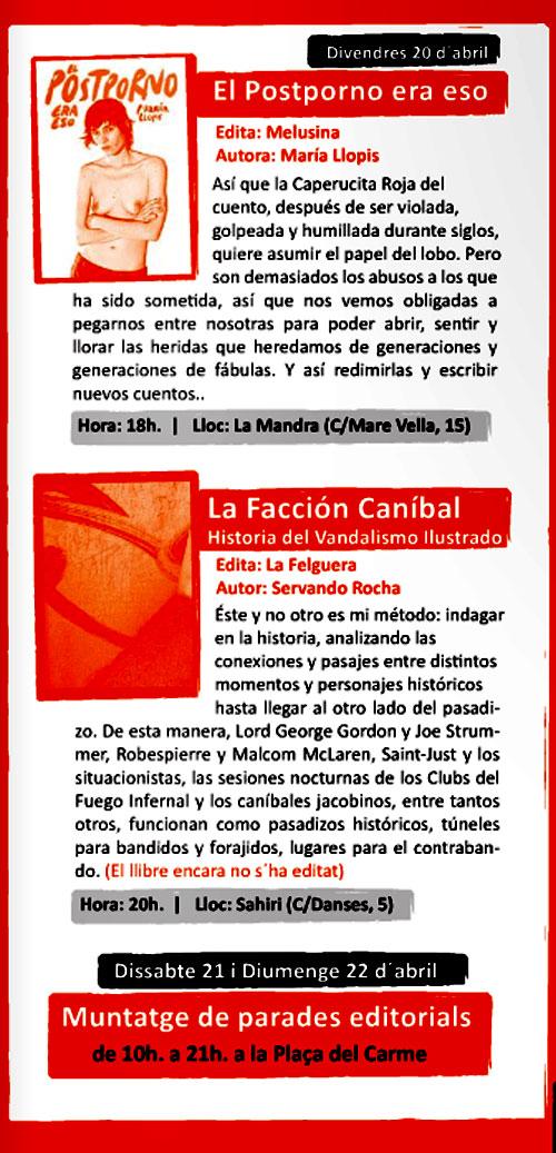 Cartel de la Mostra del llibre anarquista de Valencia - 3