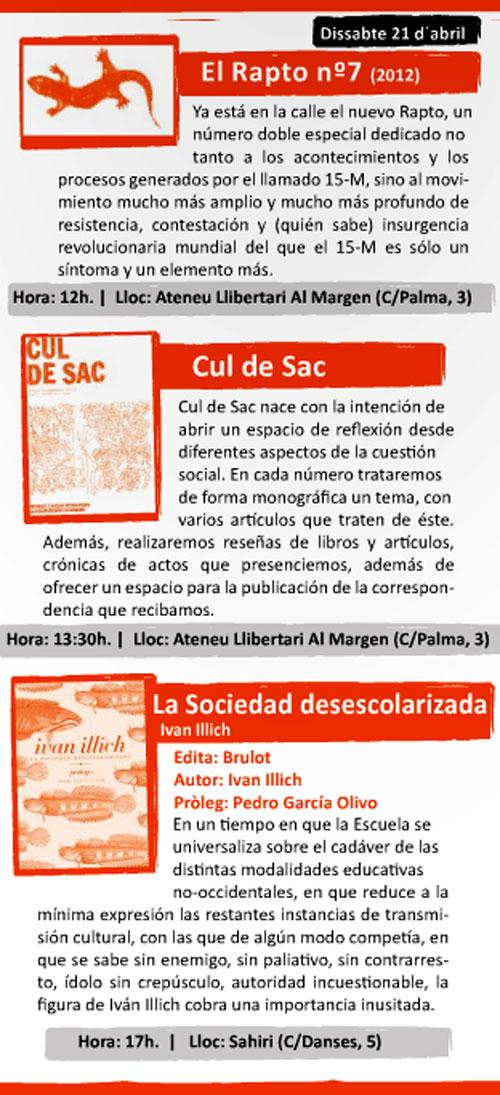 Programa de la Mostra del llibre anarquista de Valencia - 2