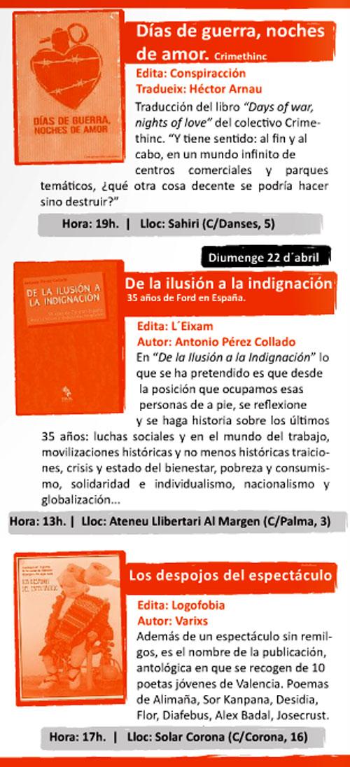 Programa de la Mostra del llibre anarquista de Valencia - 3