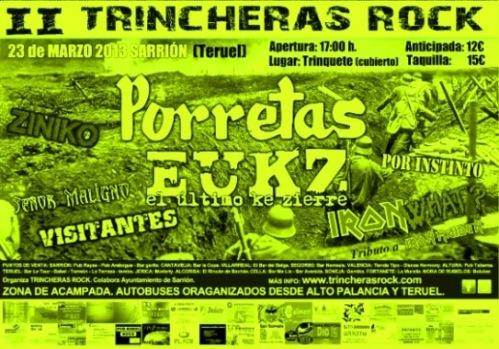 Cartel de Trincheras Rock de Sarrión 2013