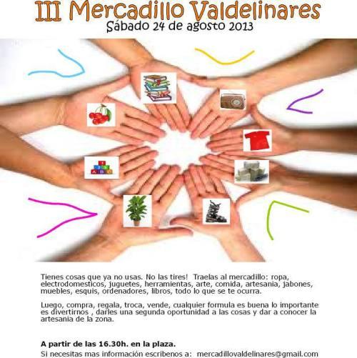 Tercer mercadillo en Valdelinares - Teruel, el 24 de Agosto de 2013.