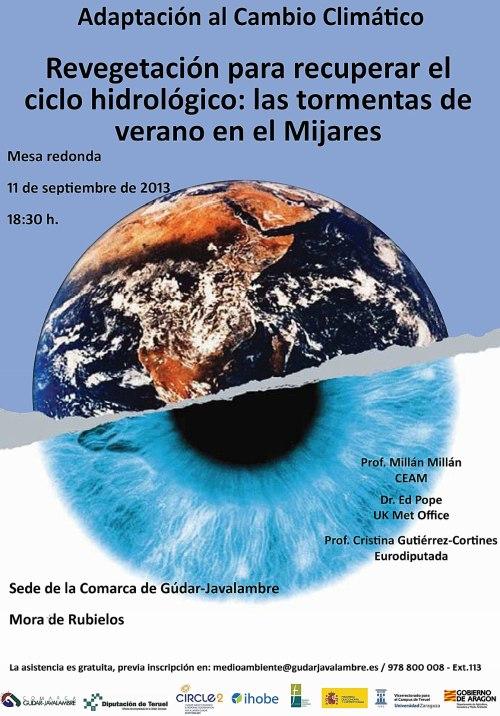 cartel del taller de adaptación al cambio climático