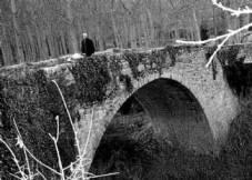 El río Mijares, a su paso bajo el puente medieval de Formiche Alto. Foto:EL PERIÓDICO