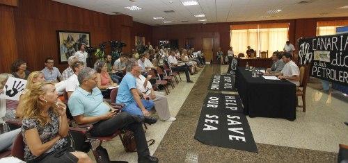 Imagen del acto  en Lanzarote.