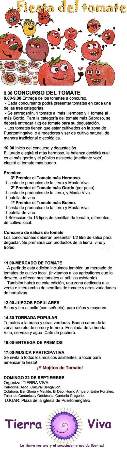 Cartel de la Fiesta del tomate en Puertomingalvo - Teruel.