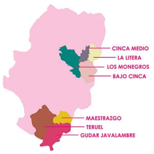 Mapa del ámbito geográfico de aplicación del Proyecto Concilia.