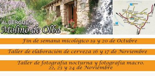 Actividades en el albergue Molino de Olba en otoño-invierno de 2013.