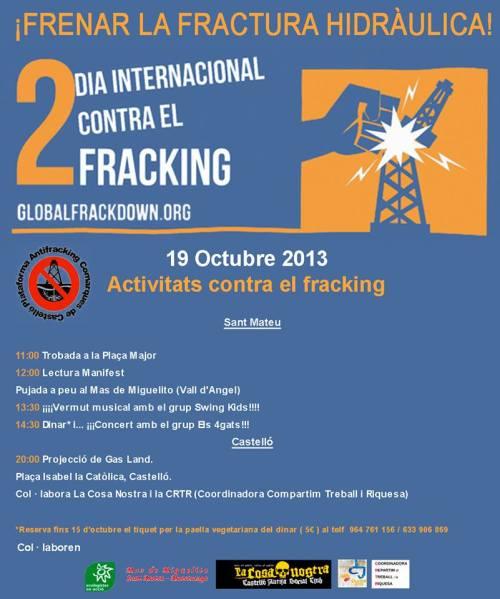 Día internacional contra el Fracking.
