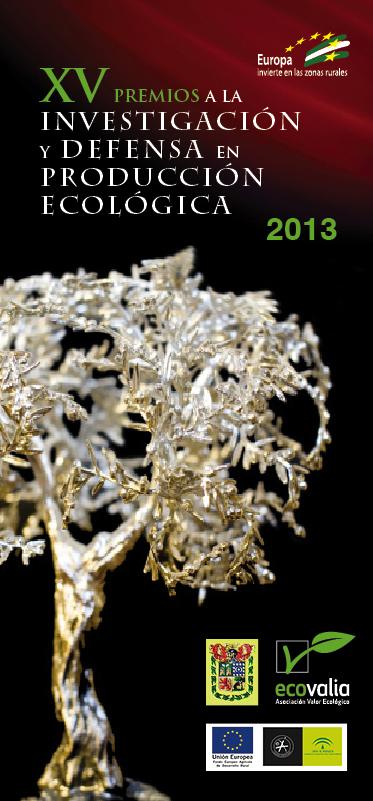"""Cartel de la XV convocatoria de los """"Premios a la Investigación y Defensa en Producción Ecológica"""""""