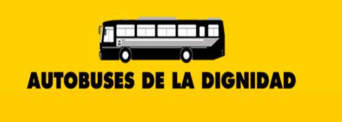 Imagen: autobuses por la dignidad