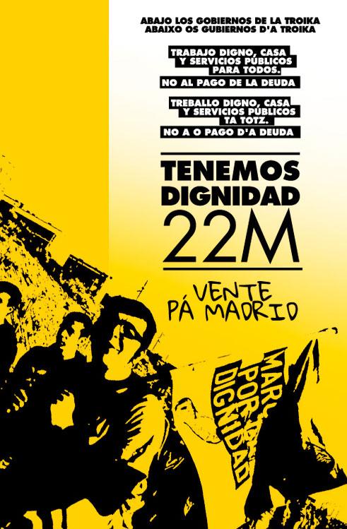 Cartel de la marcha por la dignidad, Teruel.