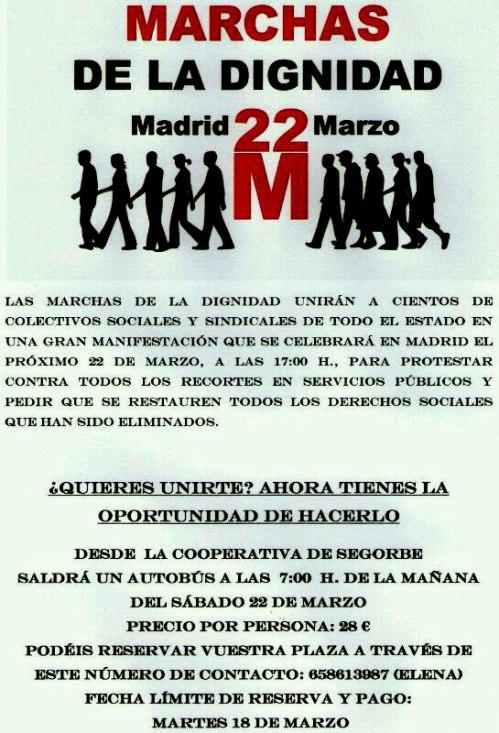 Marcha por la dignidad, desde Segorbe - Castellón.
